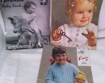 Vintage Baby Clothes Knitting Patterns for Babies clothes for Jumpers (1950s)