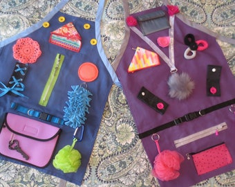 Activity Apron - for visual and tactile stimulation for the elderly