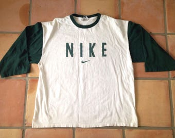 Vintage Nike 90s Baseball Spellout Swoosh T-Shirt - Size XL - Made in USA