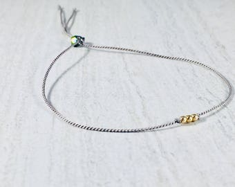 Gold Filled Beads with Rainbow Quartz Bracelet