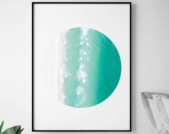 Ocean Wall Decor, Beach Art Print, Beach Theme Decor, Ocean Canvas, Beach Print, Wave Print, Wave Art, Ocean Pacific, Beach Decor Art,  231