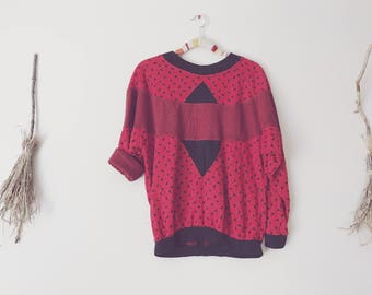 80s Memphis Design Geometric Sweater