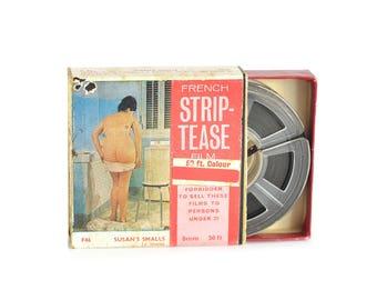 1970 Vintage French Striptease 8mm Film
