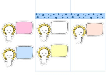 Sticky Note Planner Stickers| Word Bubble Planner Stickers| Memo Pad Stickers| Cute Functional Note Planner Stickers (M16)