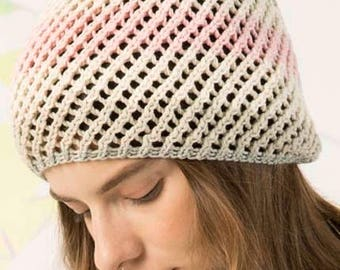 Summer hat made of 100% cotton with beautiful color gradients
