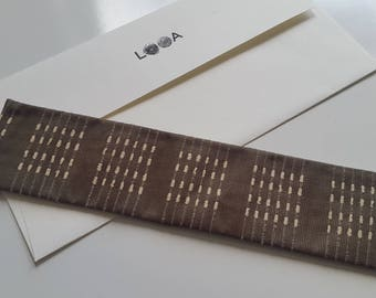 Fabric Bookmark (Mr. Brown)