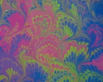 Water Marbeling Silk Scarf Design