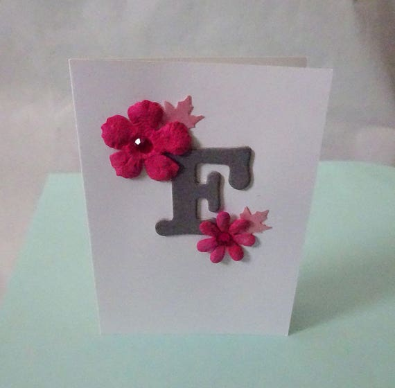 "Monogram/Initial Card - Letter ""F"""