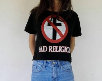 Bad Religion Crop Top ONE SIZE Women Punk
