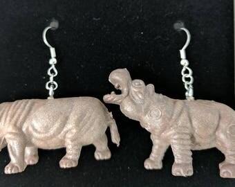 Hippo earrings #266