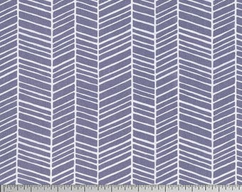 One Yard Cut - Herringbone in Grey - Basic Colors by Joel Dewberry for Free Spirit -  Quilters Cotton - Fabric by the Yard