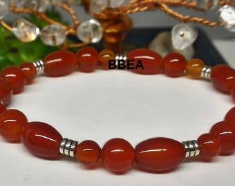 Orange carnelian bracelet - be.