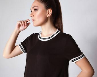 "Dress ""Like a T-shirt"" / Black dress / Casual dress"