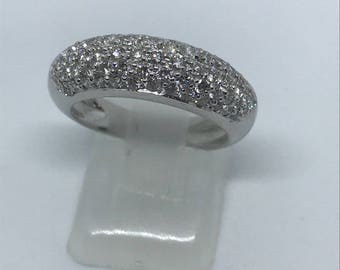 Diamond 18ct white gold half eternity dress band ring