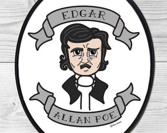 Edgar Allan Poe Large Wood Wall Plaque - Goth/Gothic
