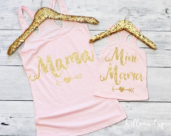 Mommy and Me Outfit, Mommy and Daughter Shirts, Womens Tank Top, Mama Shirt, Mini Mama, Mama's Mini