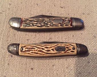 Pair of Vintage Colonial 2 Blade Pocket Knives