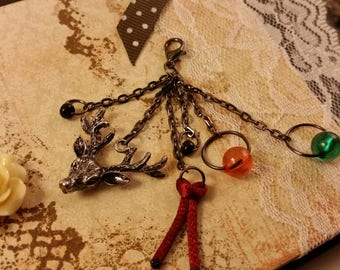 Magical forest keychain