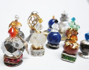 20% OFF STOREWIDE Potion Bottles| Miniature Love Potion or Perfume Bottles for Fairy Garden Miniatures, Terrarium, and Fantasy Diorama. Set