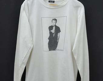 BILLIE JOE Shirt Vintage 90's Bille Joe Of Green Day Photo Print Long Sleeve Tee T Shirt Size L