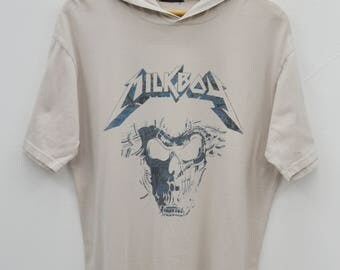 MILKBOY Shirt Vintage 90's Milkboy Death Squad 05 Indivisual Existance Made In Japan Hoodie Tee T Shirt Size M