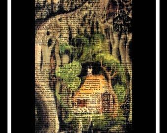 526 Fairytale vintage dictionary art