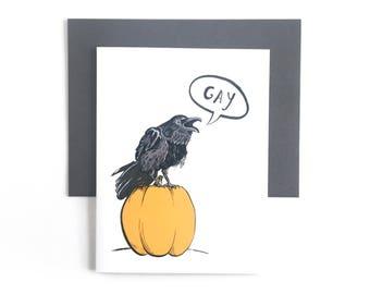 Gay raven - Greeting Card