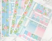 Meow | Mini Planner Sticker Kit, Personal Kit, TN Stickers, Floral, Flowers, Spring, Summer, Kittens, Cat Stickers, Butterflies, Garden