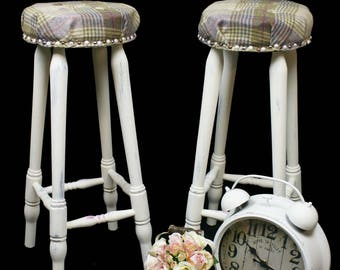 Tartan bar stools