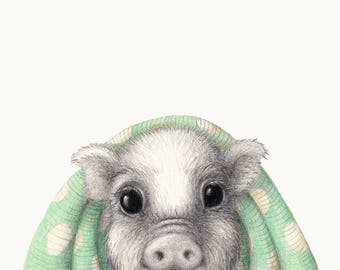 Winter Woollies Pigs in Blankets  Print - Made to Order