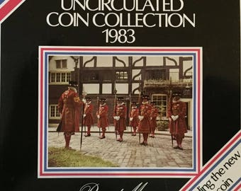 1983 Brilliant Uncirculated Coin Year Set Collection - Royal Mint