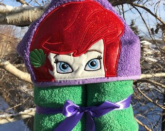 Ariel Inspired Hooded Bath Towel