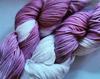 Strawberries and Cream hand dyed cotton yarn