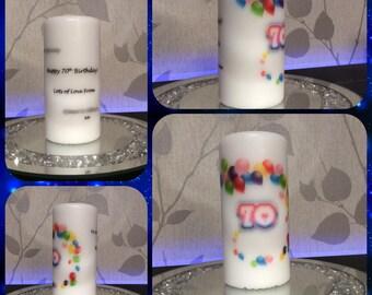 Milestone Birthday candle