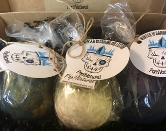 Mother of Dragons Gift Set, Game of Thrones, Inspired, Game of Thrones Bath Bomb, Bath Bomb, Dragon Egg Bath Bomb,Dragon Egg set, Bath