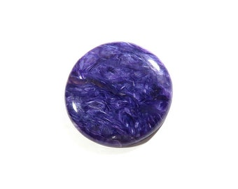 55Cts Charoite Cabochon Round Loose Gemstones Calibrated Size Gems Top AAA Quality Natural Charoite Gemstone For Jewelry Making 33x33x5mm