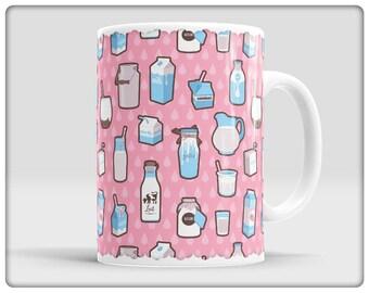 Milk Pattern Mugs