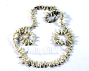 Vintage Nacre Necklace, Bone Necklace, Necklace, Beautiful Necklace, Unique, Sweet Bracelet, Bone