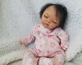 """Almost 11"""" partial sculpted, posable, clay baby by TinyToesStudio"""