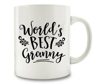 Gift for Granny - World's Best Granny Coffee Mug, granny gift (D188)