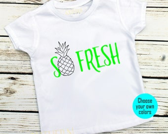 so fresh, So Fresh Shirt, pineapple shirt,baby boy, trendy baby boy, hipster baby, baby shower gift,cute baby boy clothes, infant, Wild One