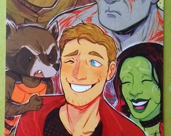 A4 Guardians of the Galaxy Print
