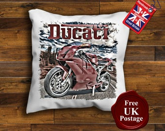 Ducati Motorcycle Cushion Cover, Ducati Cushion, Unofficial,