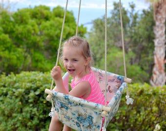 Toddler swing - Baby swing - Fabric swing - Children swing - Hammock swing - Indoor swing - Outdoor swing - Girl swing - Kids swing