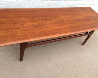 Mid Century Modern Danish Coffee Table by Trioh Mobler