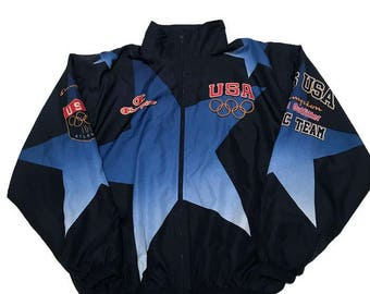 Vintage 1996 Dream Team USA Basketball Olympics Full Zip Jacket Atlanta By Champion XXL