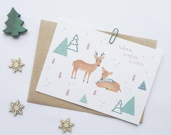 Christmas card - Warm winter wishes