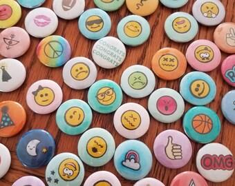 Custom buttons, badge, emoji, pin or magnetic