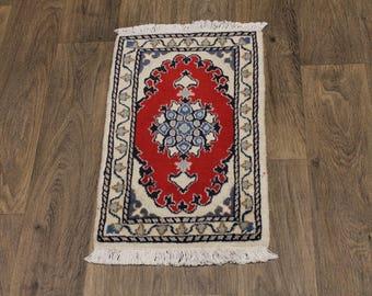 Elegant Design Small Size Handmade Nain Persia Area Rug Oriental Carpet 1ʹ4X2ʹ3