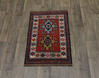 Authentic Handmade Small Tribal Ghoochan Persian Area Rug Oriental Carpet 2X3